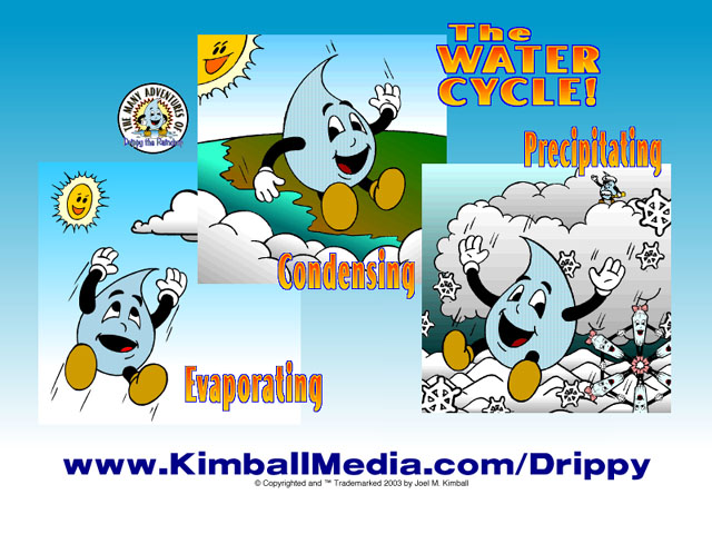 water cycle drippy the raindrops free water cycle fun trial site